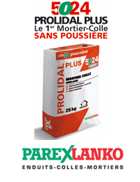 5024 Prolidal Plus de Parexlanko : le premier mortier colle sans poussi�re