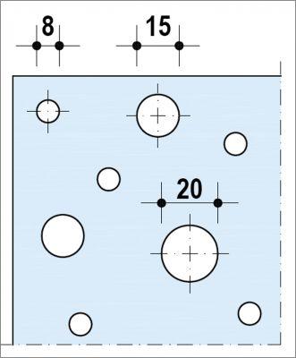 Plafond acoustique non démontable Knauf Delta UFF - Décor Aléatoire - Plâtre
